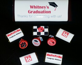 Hershey Kiss stickers- Graduation