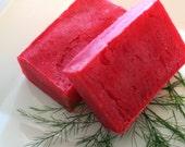 Sweet and Tart Cranberry Olive Oil Soap Bar(Vegan Friendly)