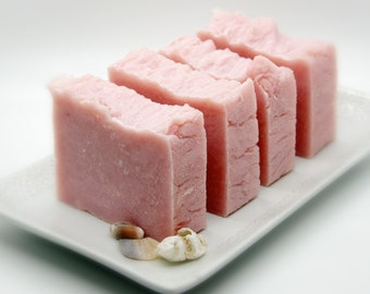 The Pink Peony Olive Oil Soap Bar (VEGAN Friendly)