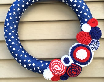 4th of July Wreath - Star Wreath - Independence Day Wreath - Patriotic Wreath - July 4th Wreath - Stars & Stripes - American Wreath - Star