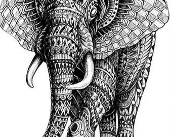 THE ELEPHANT  temporary tattoo ( new)