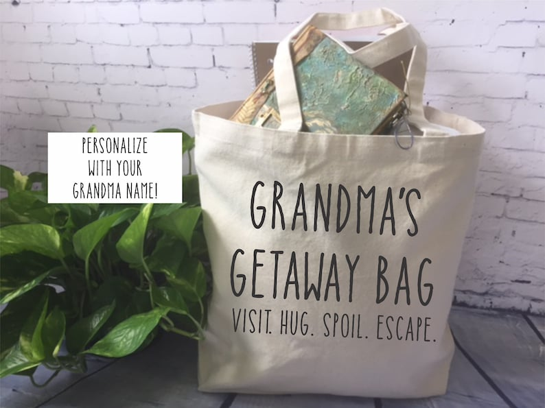 canvas tote bag/funny grandma gift/ mom gift/mother's day image 0