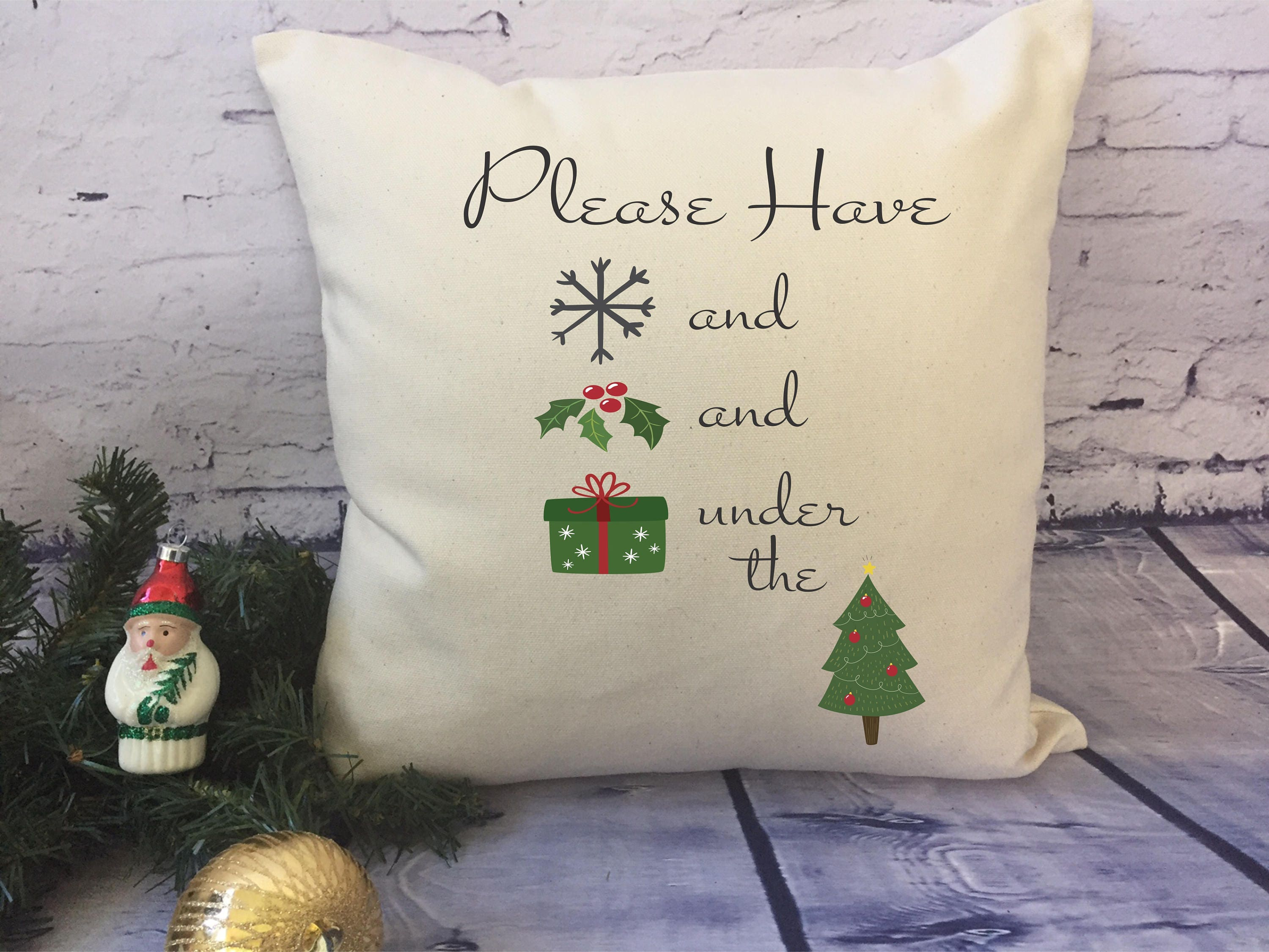 Ill be home for Christmas throw pillow/ snow/ | Etsy