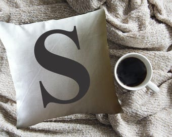 Personalized Initial decorative throw pillow cover. monogram pillow