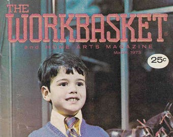 Vintage Workbasket Magazine 1973/1974 Craft Projects. Instructions. How to.