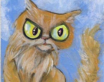 Don't Make Him Mad! Original Painting ACEO Art Card