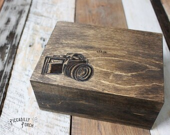 Wood Burned Jewelry Box