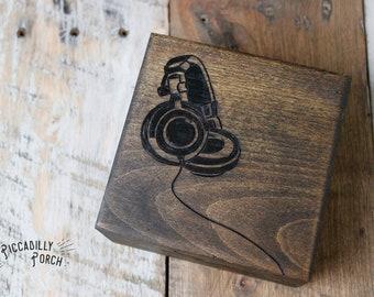 Wood Burned Trinket Box