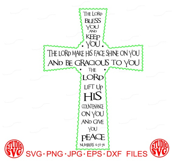 Celtic Cross Cross Irish The Lord Bless Christian Numbers Etsy