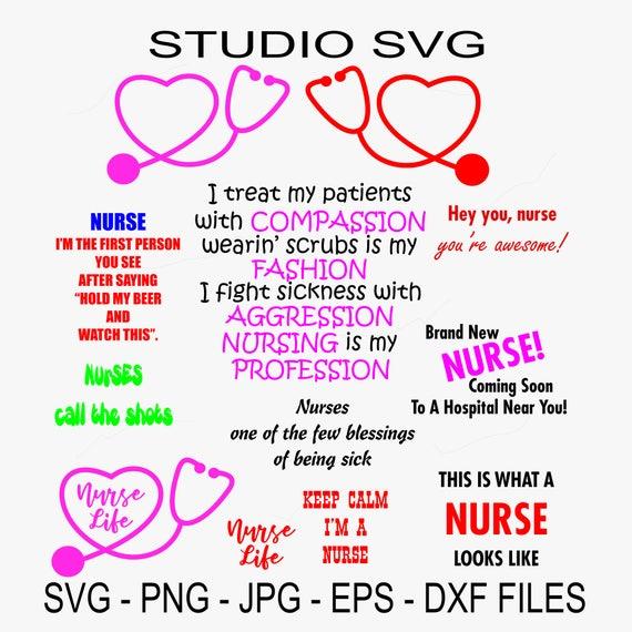Digital Cut File Nurse Nursing Patient Red Cross Vinyl Etsy