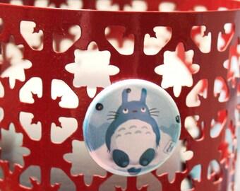 Totoro fanart round magnet