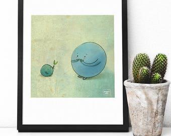 The green gift - illustration print