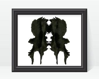 Rorschach Print Psychology Art Ink Blot Test  no1