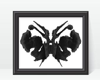 Rorschach Ink Blot Art print no 27