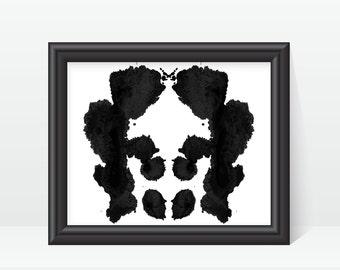 Rorschach Ink Blot Art Therapist Office Decor print no 9