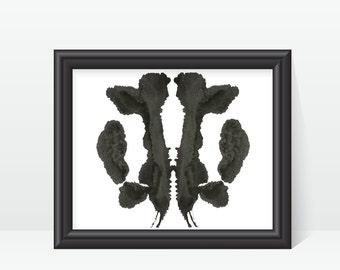 Psychology Art Rorschach Ink Blot Art print no 31