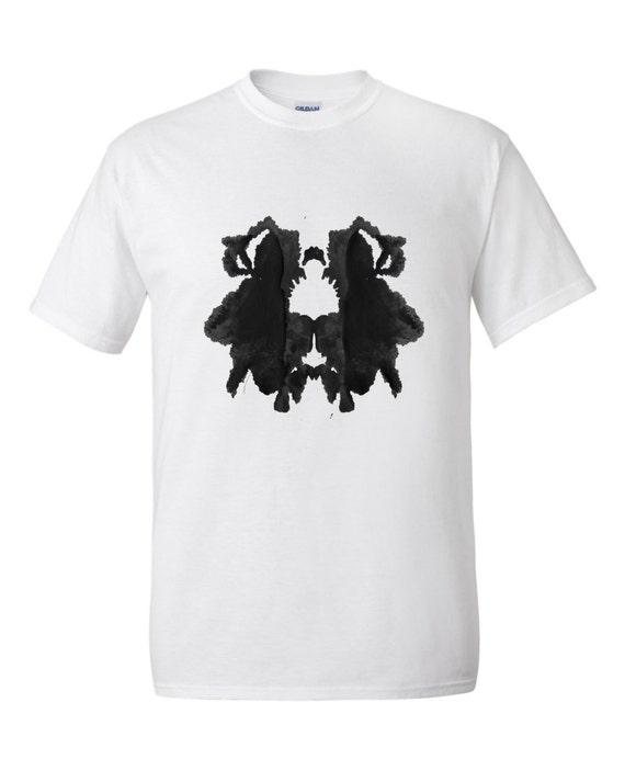 Ink Blot Artwork Rorschach Psychology Test T Shirt Mens Style 29