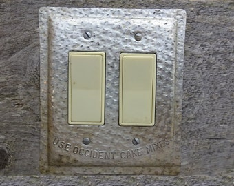 Switch Plates And Outlet Covers Made From Old Tin Von Tincansally