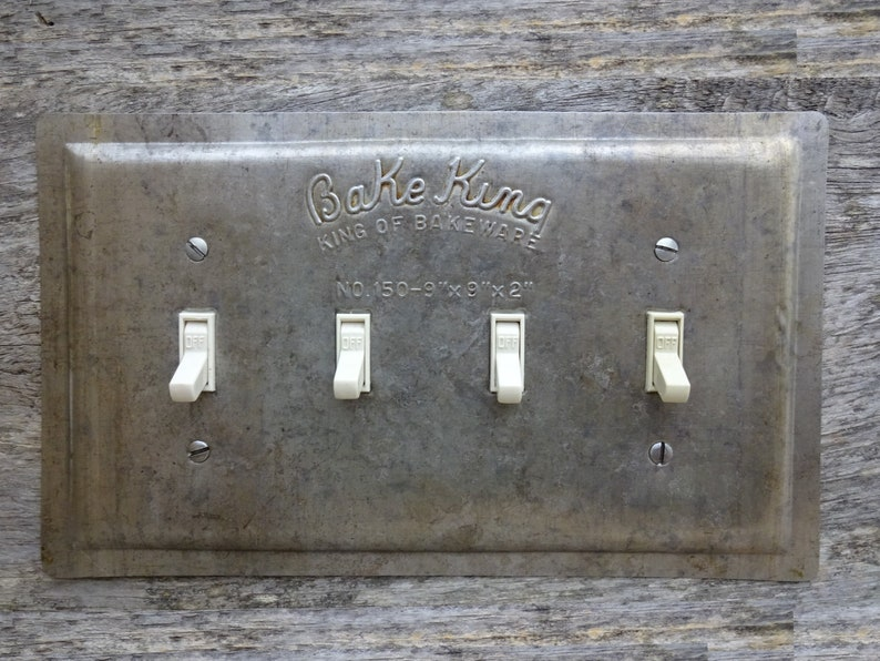 Quad Switch Plate Cover Antique Kitchen Decor Rustic Lighting Etsy