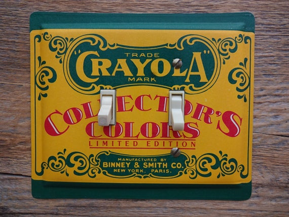 Light Switch Plate Cover Childrens Room Kids Lighting Crayola Etsy