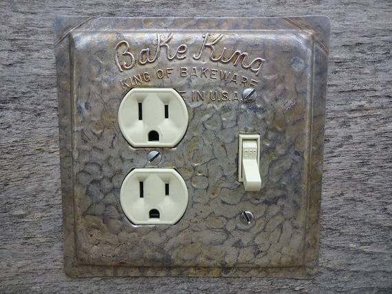 Kitchen Light Switch Covers Outlet Cover Lighting Made From A Vintage Bake  King Cake Baking Pan Pans OLC-1155C-R
