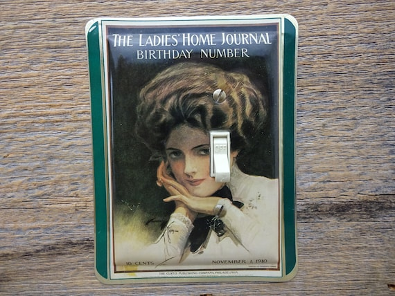 Victorian Light Switch Cover Lighting Ladies Home Journal Tin Birthday  Number 1910 Issue Traditional Decor SP-0321