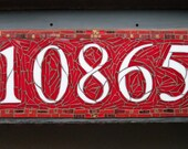 Mosaic House Number 5 Digits on 16x8 inch Slate