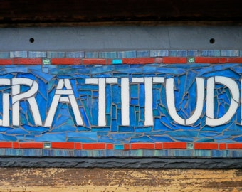 MADE TO ORDER Gratitude Sign in Craftsman Style