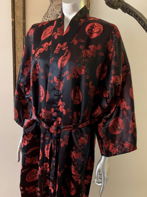 Chinese Red Dragon Embroidered Robe