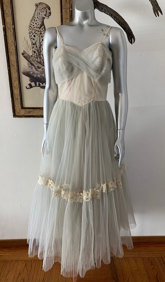 Classic 1940s Tulle Party Gown