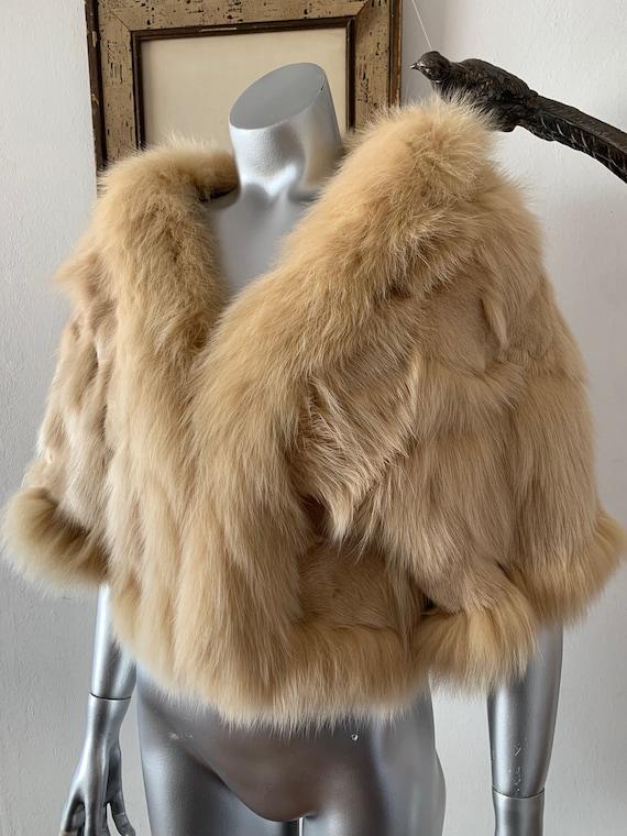 Cropped Fox Fur Shrug Jacket