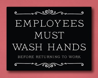 photograph relating to Employees Must Wash Hands Sign Printable called Clean arms Etsy