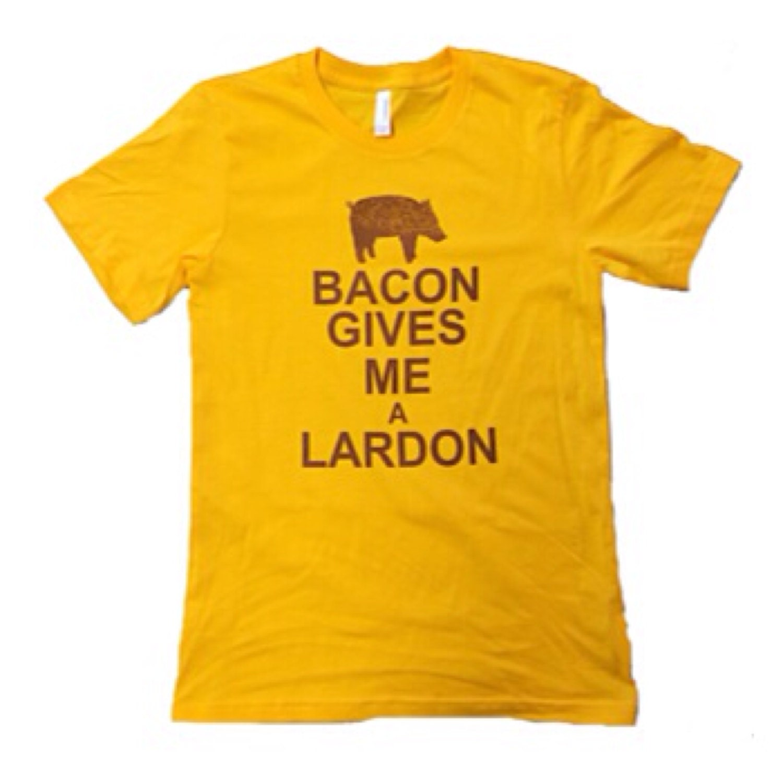 Bacon Gives Me A Lardon Tee Shirt With Funny Screen Print Etsy