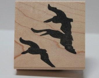 PELICAN flight - California Brown Pelican rubber stamp