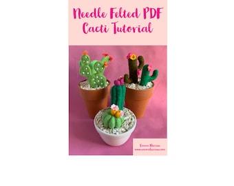 PDF Tutorial Needle Felted Cacti Cactus DIY Instant Download