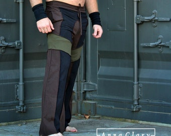 Mens Van Pants Festival Rave Dance Pants Yoga Psytrance Pants