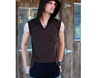 Zenith Sleeveless Hoodie Pullover shirt, Festival clothes, Fire Safe Performance wear, Casual Funky