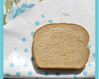 sandwich wrap & liner/napkin *Lt BLUE DOTS* place mat, cotton napkin, eco, reusable, zero waste lunch bag, school office picnic lunch bag