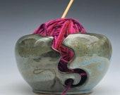 Yarn bowl, crochet bowl, knitting bowl, clay yarn bowl