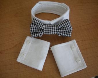 Dog Bowtie Collar and Cuffs