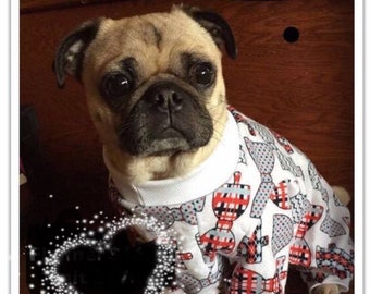 Custom Sized Small Dog Pajamas - Flannel or Knit