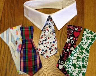 Pug or Small Dog Collar Tie Set