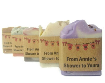 Custom Favor Soaps - 100 - Wedding Favors - Bridal Shower - Baby Shower - Corporate Gifts - Customized Label - Personalized
