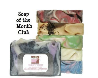 Soap of the Month Club - Mother's Day Gift - 6 Month Soap Subscription - Birthday Gift for Her - Monthly Subscription Box - Gift Under 50