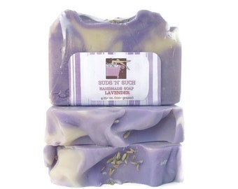 Lavender Soap made with Natural Essential Oil - Relaxing Scent Perfect for Bedtime - Artisan Design with Swirls