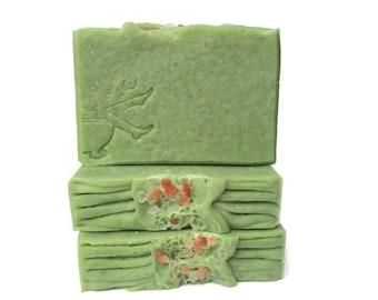 Avocado Sea Salt Handmade Artisan Soap - With Aloe Vera and Avocado Puree