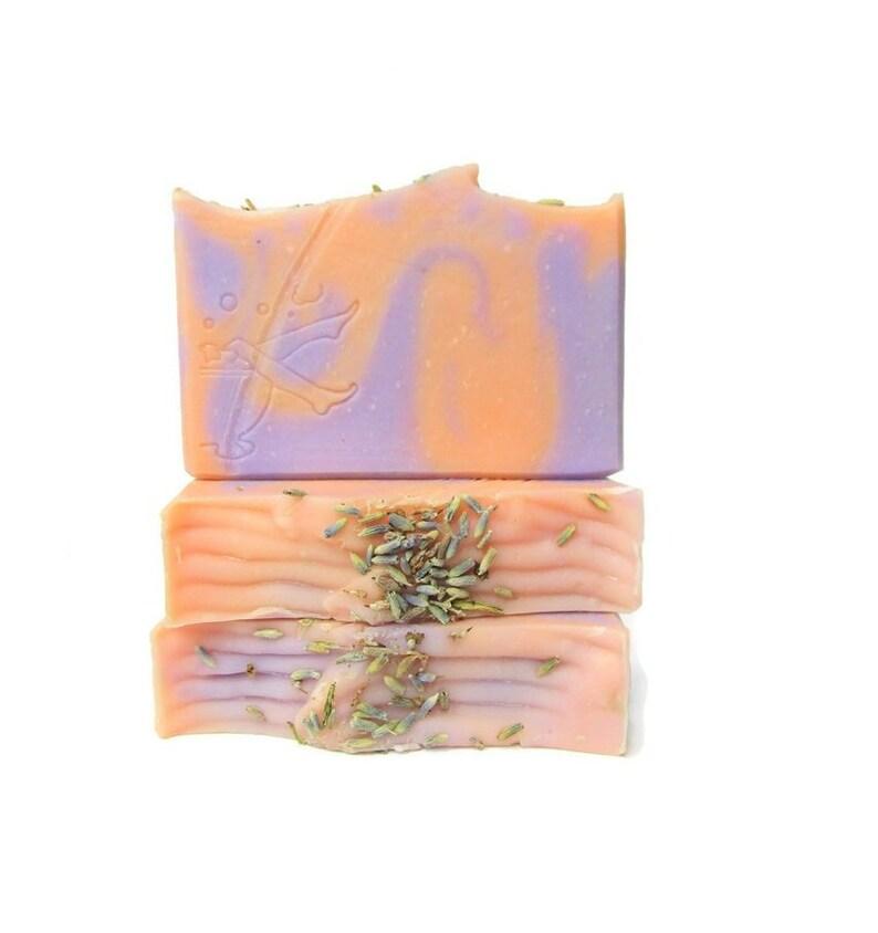 Lavender Orange Essential Oil Soap  Artisan Skin Care image 0