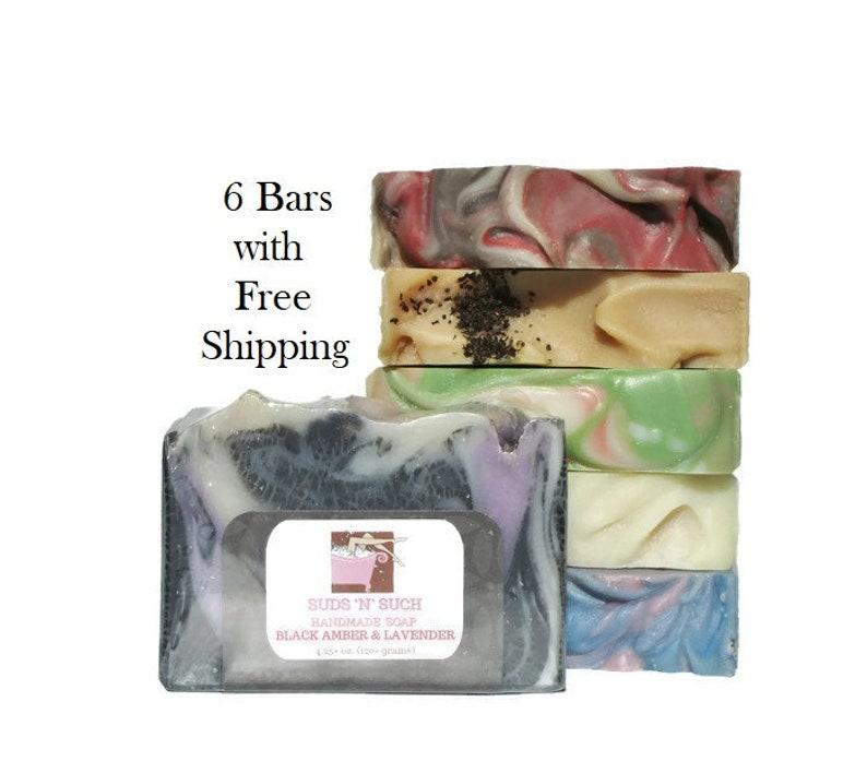 Soap Assortment Variety Pack  Full Sized Bars  Try 6  image 0
