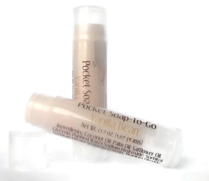 Travel Soap in a Lip Balm Tube  Vanilla Bean Scented  image 0