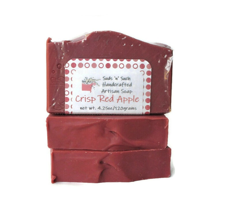 Crisp Red Apple Scented Soap  Limited Edition Seasonal image 0